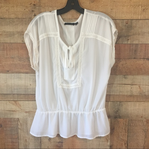 sheer ruffle detail T-shirt - White Genny Cheap Sale Lowest Price For Sale 2018 Clearance Visit Cheap Price Great Deals Sale Online A3rvIYlzua